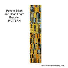 Beadweaving Bracelet Pattern - Peyote and Loom Patterns - Klimt 11