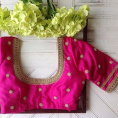 15 Beautiful Maggam Work Blouse Designs by Nyshka Design Studio with price details for kanjeevaram sarees designer sarees and plain sarees with detail Pattu Saree Blouse Designs, Blouse Designs Silk, Designer Blouse Patterns, Bridal Blouse Designs, Blouse For Silk Saree, Pattern Blouses For Sarees, Indian Blouse, Salwar Designs, Silk Blouses