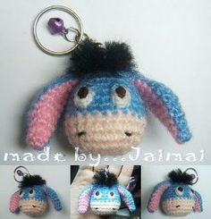 Mesmerizing Crochet an Amigurumi Rabbit Ideas. Lovely Crochet an Amigurumi Rabbit Ideas. Crochet Keychain Pattern, Crochet Amigurumi Free Patterns, Crochet Dolls, Knitting Patterns, Crochet Gifts, Cute Crochet, Beautiful Crochet, Crochet Mignon, Eeyore