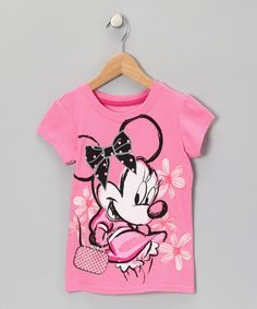 Take a look at this Pink Peach Minnie Mouse Tee - Girls by Disney Girls on #zulily today!