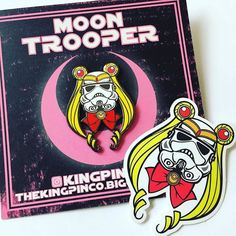 Repost @kingpinpins  OH FUGG!?! 'Moon Trooper' Pin & Sticker Packs Are Here!!? Thanks to all who've been waiting for them Pre-Orders!! #moon #trooper #sailor #moon #sailormoon #star #wars #starwars #stormtrooper #stickerapp #sticker #stickers #pin #lapelpin #enamelpin #hatpin #pins #lapelpins #hatpins #enamelpins #hiatus #over #lltk #kingpinpins #kingpin    (Posted by https://bbllowwnn.com/) Tap the photo for purchase info.  Follow @bbllowwnn on Instagram for the best pins & patches!