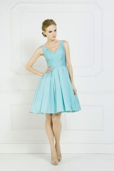 The Winter Blues.....Wintry blue bridesmaids dresses by Kelsey Rose. Style 50018.