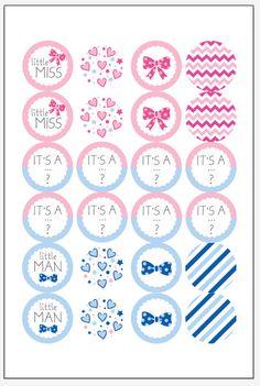 Download Gender reveal hershey kiss stickers by Juissip