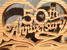 50th Anniversary Desk Clock Golden Anniversary 50th | Etsy#50th #anniversary #clock #desk #etsy #golden Golden Anniversary Gifts, Anniversary Gifts For Parents, Anniversary Clock, Clock Decor, Desk Clock, Diy Projects For Beginners, Different Types Of Wood, Monogram Wall, Diy Chicken Coop