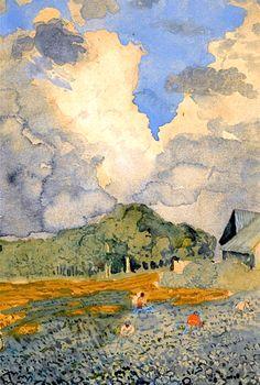KONSTANTIN ANDREEVICH SOMOV 1869-1939 AFTER THE RAIN
