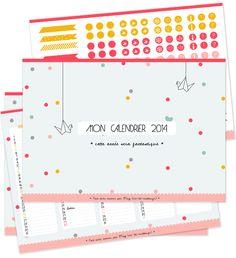 Le calendrier de 2014 à imprimer