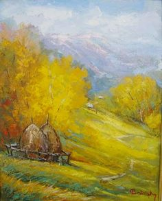 Andrei Branisteanu  - Luna de Octombrie Painting, Painting Art, Paintings, Painted Canvas, Drawings