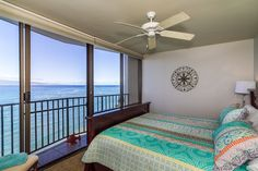 great ocean views from the bedroom at Valley Isle Resort Unit 1110