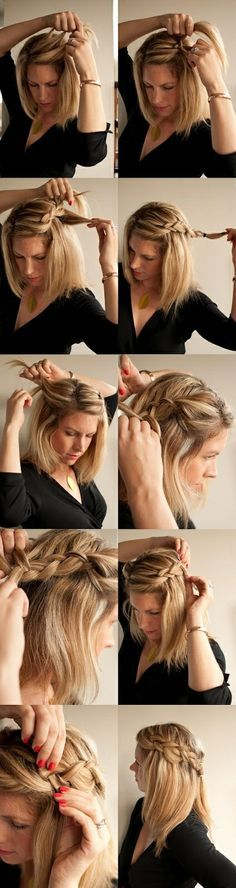 Cascade Braids for Medium-Length Hair | How To Get Summer's 27 Best Hairstyles | Look around!