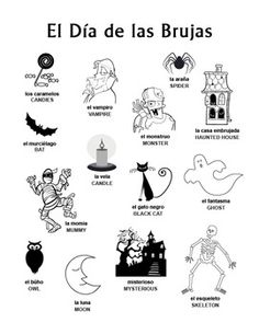 spanish halloween puzzle pack da de las brujas noche dia de brujas - Halloween Vocab Words