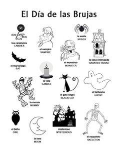 spanish halloween bundle d a de las brujas puzzles flash cards worksheets picture. Black Bedroom Furniture Sets. Home Design Ideas