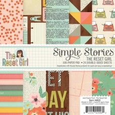 "Simple Stories 6x6"" paperilehtiö - The Reset Girl - 6.90€"