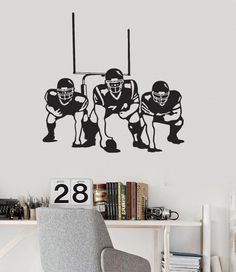 Wall Decal American Football Players Sports Fan Boys Room Vinyl Mural  (ig2855)