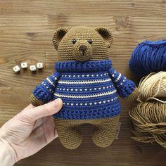 Crochet Animal Patterns, Stuffed Animal Patterns, Crochet Patterns Amigurumi, Amigurumi Doll, Crochet Animals, Crochet Dolls, Crochet Diy, Crochet Bear, Crochet Gifts