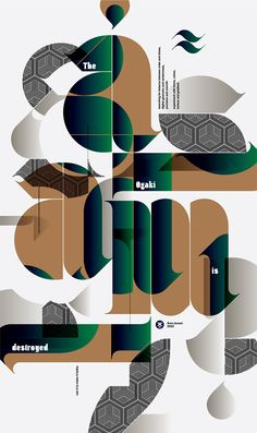 Typography posters by Áron Jancsó