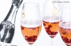 Champagner mit Granatapfel
