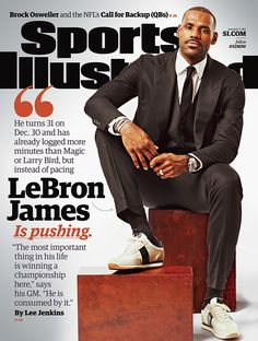 LeBron James is featured on the cover of this week's Sports Illustrated, putting him halfway to Michael Jordan's record 50 SI covers. (Todd Rosenberg for SI) GALLERY: LeBron James's 25 SI...