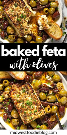 Yummy Appetizers, Appetizers For Party, Baked Appetizer Recipes, Baked Brie Recipes, Appetizer Dinner, Greek Appetizers, Recipes Appetizers And Snacks, Appetizer Ideas, Baked Feta Recipe