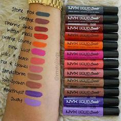 Liquid Suede Cream Lipstick swatches