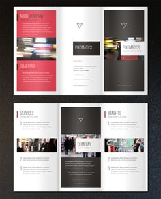 A perfect minimalist 8.5 x .5.5 corporate tri-fold brochure. The trendy and modern design is ideal to showcase any company business. Update colors and photos to suit your needs. All fonts and photos are royalty free.
