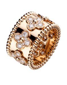 Van Cleef & Arpels 18k Diamond Perlee Ring at London Jewelers!