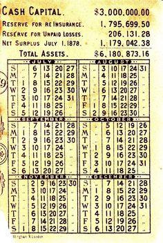 2/ Home Insurance Company New York Calendar Sign Children Victorian Card C 1880s
