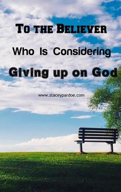 Thinking of Giving up on God: Read This First - Stacey Pardoe Biblical Inspiration, Christian Inspiration, Deuteronomy 31 6, Images Of Christ, Christian Faith, Christian Living, Seasons Of Life, Bible Truth, John The Baptist