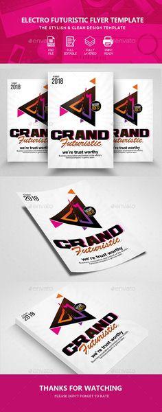 Electro Transendance Flyer + Facebook Cover Electro music, Font - electro flyer