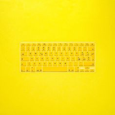 """Digital yellow  the QWERTY for my MacBook Pro 13"""" is a touch of style that could not miss //  choose your skin cover on bloox.it best quality and too many colors but mine is always #Ayellowmark"""