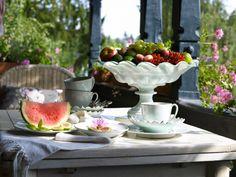Lovely morning table.