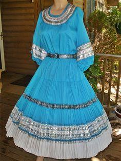 vintage Jeanette's Southwest square dance dress