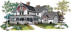 Farmhouse Victorian House Plan 95030 Elevation