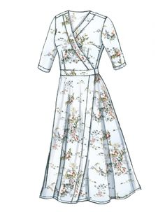 Buy Vogue Women's Dress Sewing Pattern, from our Sewing Patterns range at John Lewis & Partners. Fashion Drawing Dresses, Skirt Fashion, Fashion Dresses, Fashion Clothes, Apple Body Shape Outfits, Pin Up Kleidung, Dress Design Sketches, Pin Up Outfits, Vogue Sewing Patterns