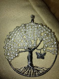 Tree of Life pendant with pearls