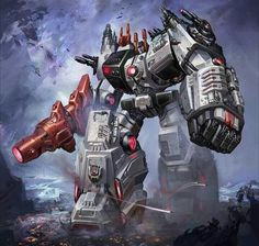 Metroplex Fall of Cybertron Character Art