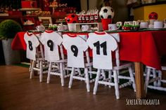 Fiesta Real Madrid, Diy Party Decorations, Diy Decoration, Soccer Party, Football, Holiday Decor, Birthday, Club, Boys