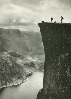 Prekestolen over Lyse Fjord in Norway National Geographic | January 1957