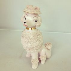 Vintage Pink Spaghetti Ware Poodle with Hat by junkindatrunkgirls, $20.00