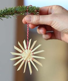 Step by step: suggestions, tips & tricks for your garden - Handicraft instructions: Straw stars – nostalgic Christmas decorations – Page 7 – My beautifu - Swedish Christmas, Scandinavian Christmas, Family Christmas, Christmas Crafts, Christmas Ornaments, Straw Decorations, Diy Christmas Decorations Easy, Holiday Decor, Straw Weaving