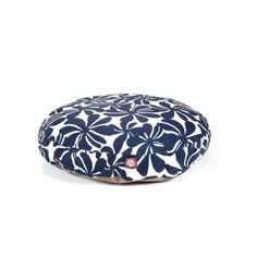 Navy Blue Plantation Medium Round Indoor Outdoor Pet Dog Bed With Removable Washable Cover By Majestic Pet Products -- Click image for more details. #CatsBedsFurniture