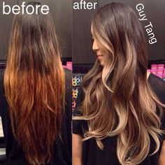 8 hour Color correction today! #guytang #ombre base with @schwarzkopfusa 6-12…