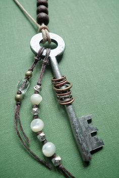 old key embellished (or 'all dressed up & no place to go')