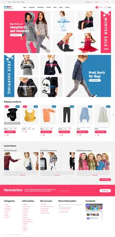 If you are looking for a nice and functional theme for your kids' clothing online store, this one is a perfect solution. Apart from multiple features, it has a catchy design and plenty of customiza...