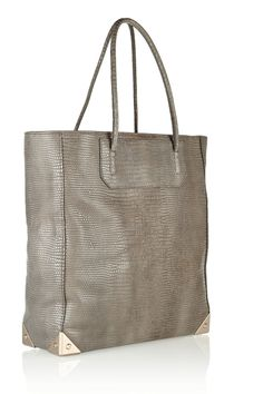 Alexander Wang | Prisma lizard-effect leather tote | clean crisp shopper tote for spring and fall