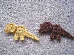 Where would the world be without the Triceratops? ~ free pattern