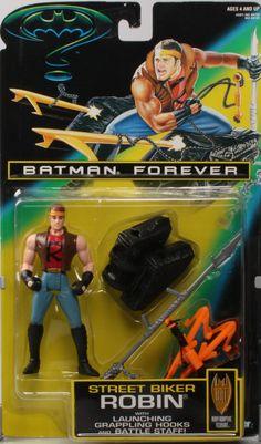 BATMAN FOREVER movie series 1995 STREET BIKER ROBIN new moc kenner hasbro