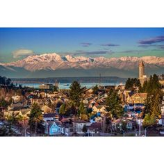 View of Olympic Mountains, Seattle, Washington. We see this view regularly and it is beautiful!!!!