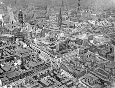 Aerial shot of Sheffield Sources Of Iron, Sheffield Wednesday, Sheffield City, Work Family, Derbyshire, City Buildings, Town Hall, Surrey, Aerial View
