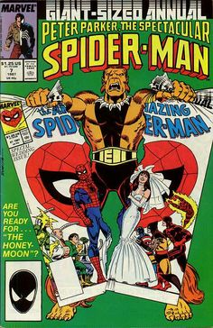 Peter Parker, The Spectacular Spider-Man Annual # 7 by John Romita Marvel Comics Art, Marvel Heroes, Marvel Characters, Spiderman Classic, Spiderman Man, Chichester, Comic Movies, Comic Books, Nostalgia