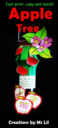 Apples, Apples and more Apples  A creative way to teach about Apples and Apple Tree life cycles. Your kiddos will love creating and putting on their own personal touches on these unique Apple Lanterns